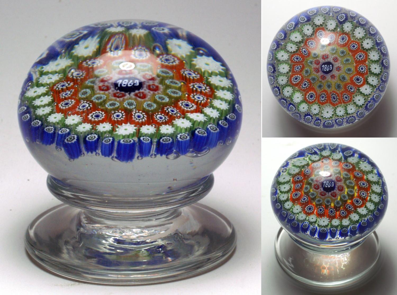 murano glass paperweights dating